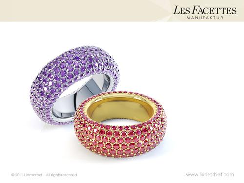 Gem crusted rings