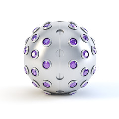 Purple Matte sphere trinket
