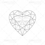 Illustrated Heart Diamond