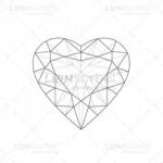Illustrated Heart Diamond