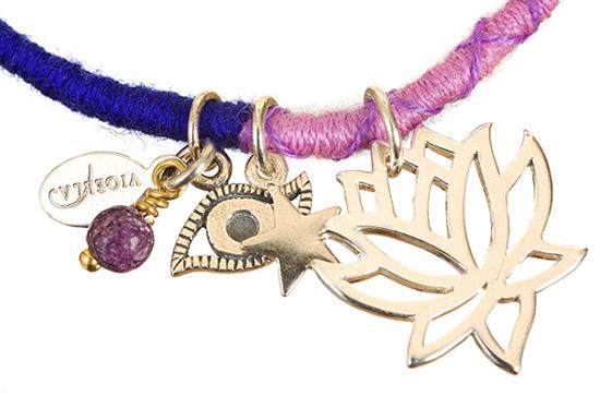 Silver Lotus Friendship Bracelet