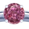 This elegant sapphire solitaire ring