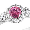 half carat pink diamond ring