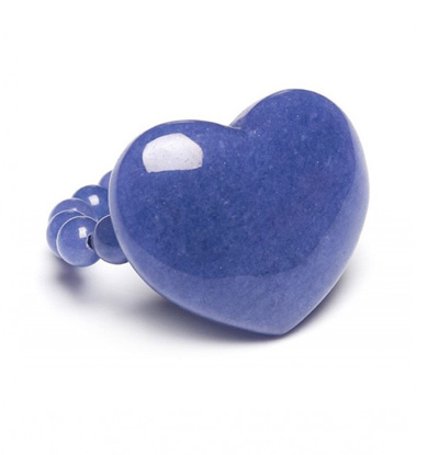 Lola Rose Alexa Puff Ring Blue