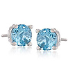 blue diamond platinum stud earings