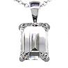 dogstone platinum diamond pendant