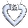 heart platinum pendant
