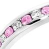 pink sapphire platinum eternity ring