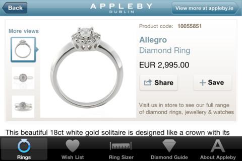 Appleby App Engagement ring