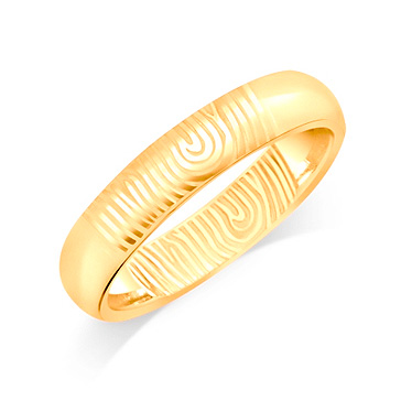 gold wedding band finger print