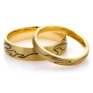 gold wedding bands