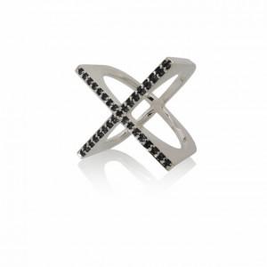 Amanda Li Hope X ring black sapphires