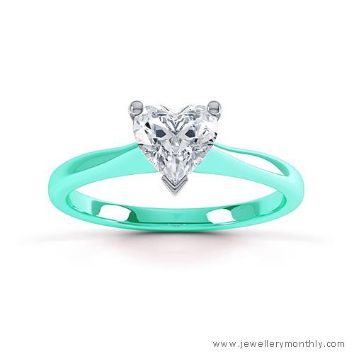 aqua blue gold ring