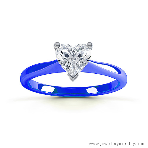 deep blue gold ring