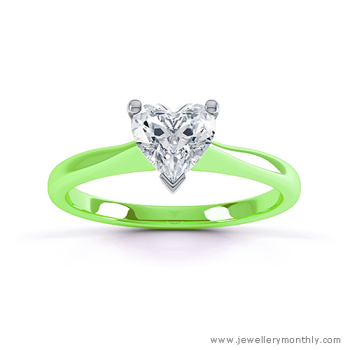 lime green gold ring