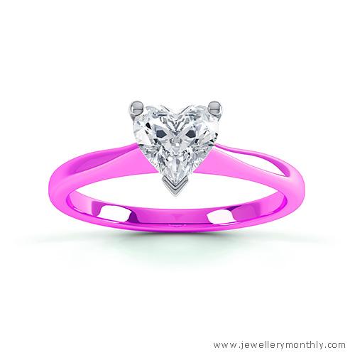vivid pink gold ring
