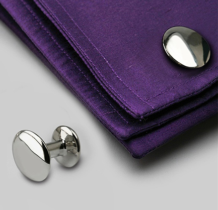 Christmas mans gift elipse Cufflinks for christmas