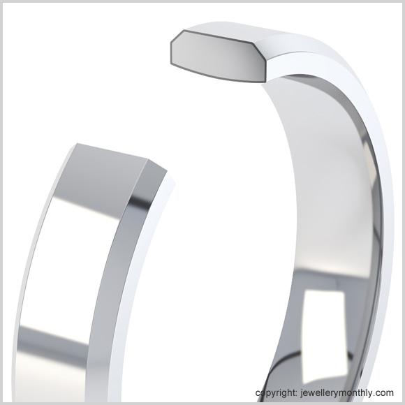beveled court wedding ring