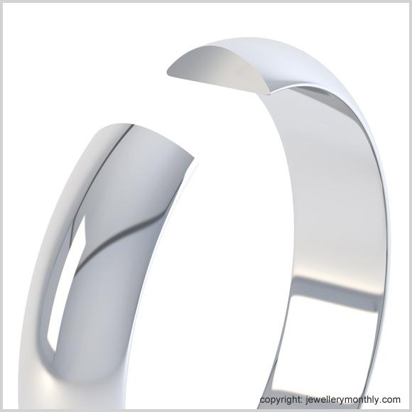 d shape wedding ring