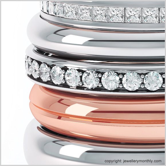 diamond set wedding bands