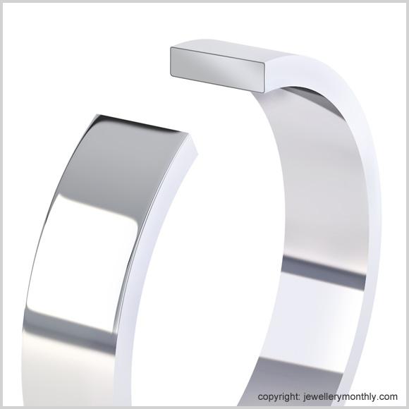 flat shape wedding ring