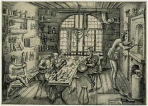 Medieval Goldsmiths workshop