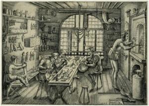 Medieval Goldsmiths workshop