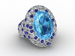 3D CAD gemstone RIng