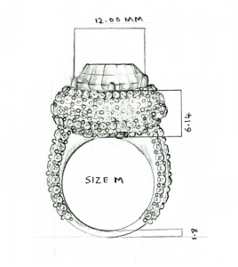 Gemstone Ring Sketch