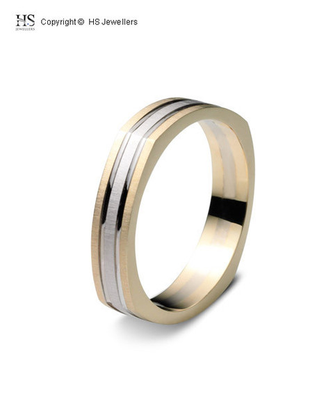 sharp edge wedding band