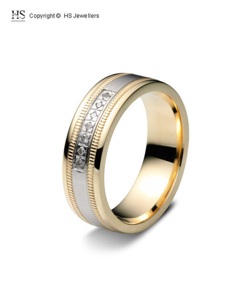 7 stone wedding band