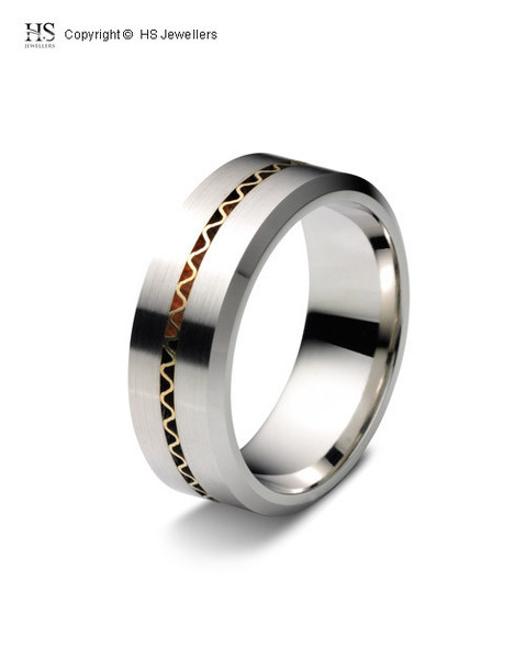 Gold Wave Wedding Band