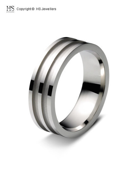 Ripple effect wedding band