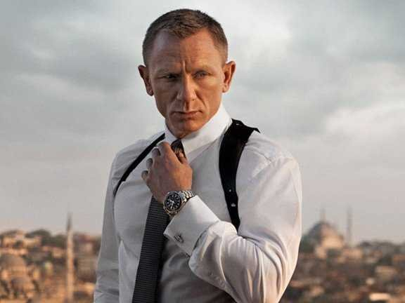 james bond wearing an omega-watch