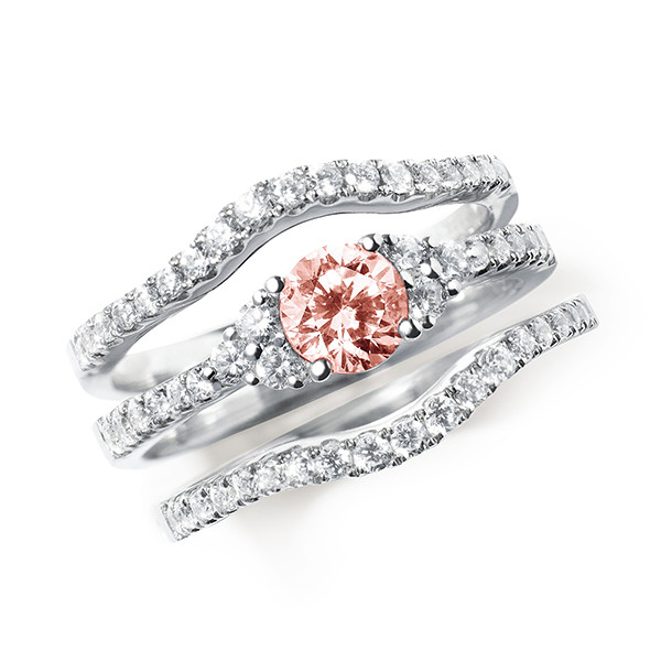 vivid pink man made diamonds