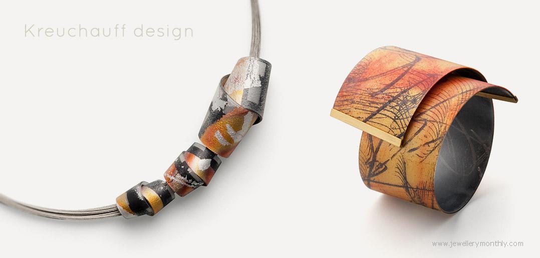 kreuchauffdesign german jewelry pendants and cuffs