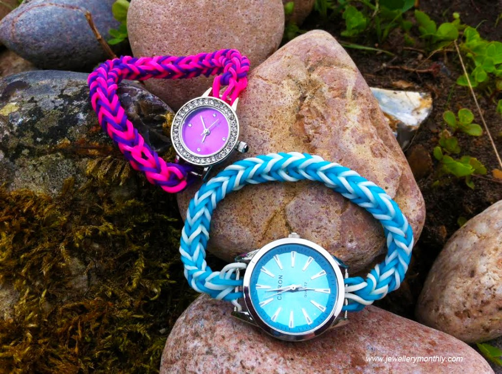 loomband-watches-on-a-rock