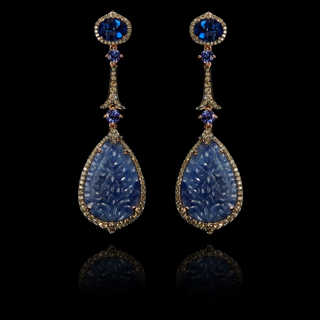 One of a Kind Sapphire earrings