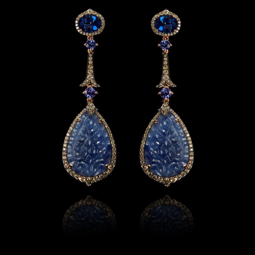 One of a Kind Sapphire earrings