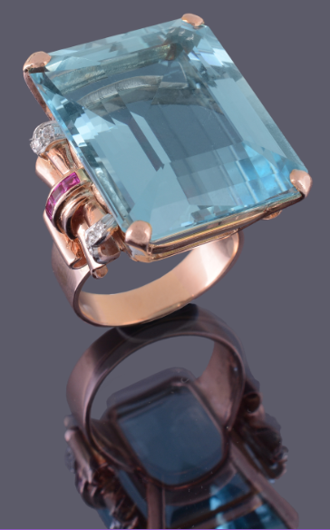 71 carat aquamarine ring