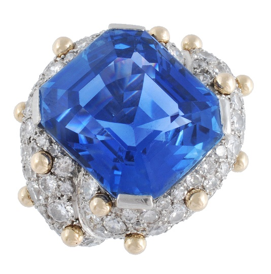 sapphire and diamond ring by French Jeweller, Jean Schlumberger