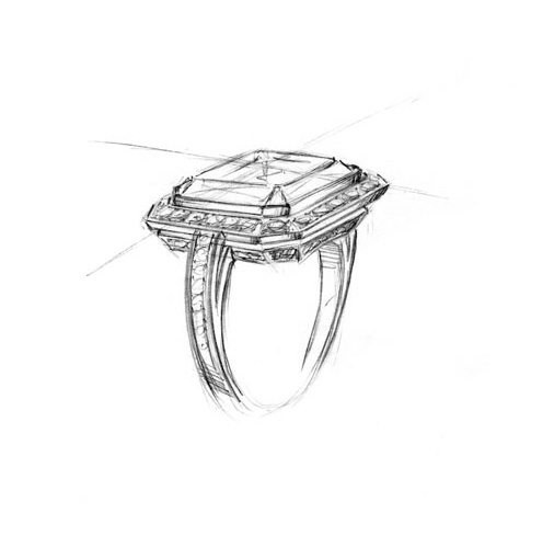scetch-of-diamond-ring