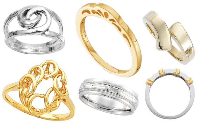 stoneless rings