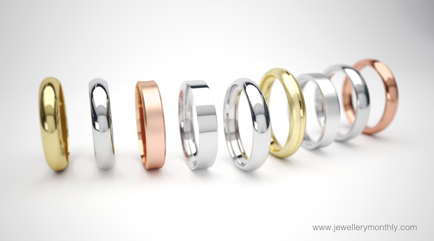 wedding ring metal colours