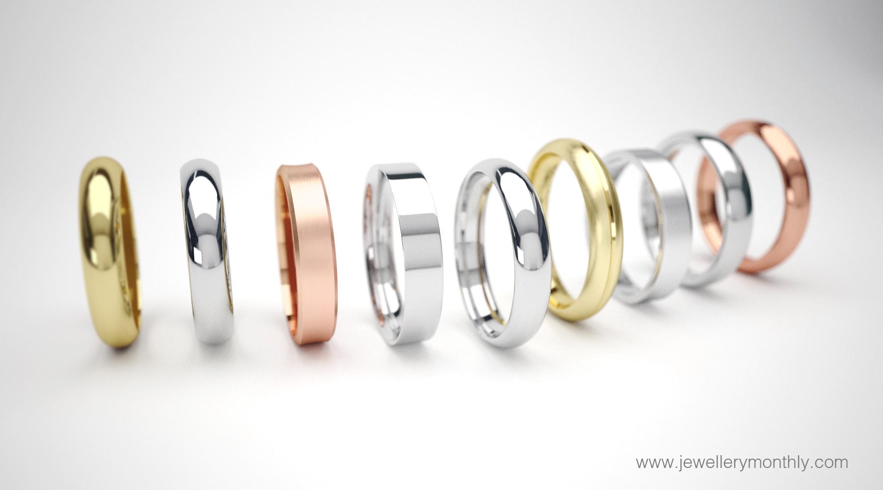 wedding ring metal colours