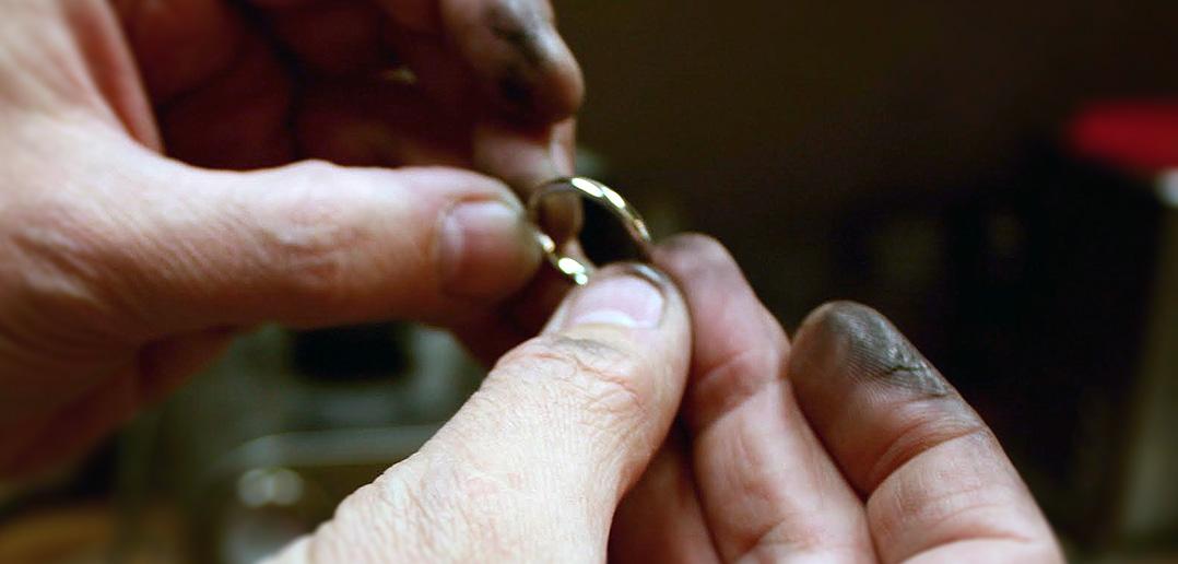 wedding ring being made