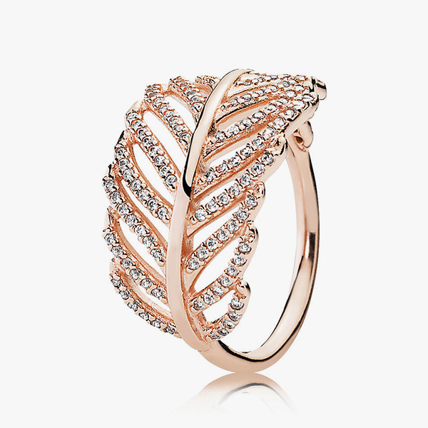 Rose Feather Ring by Pandora