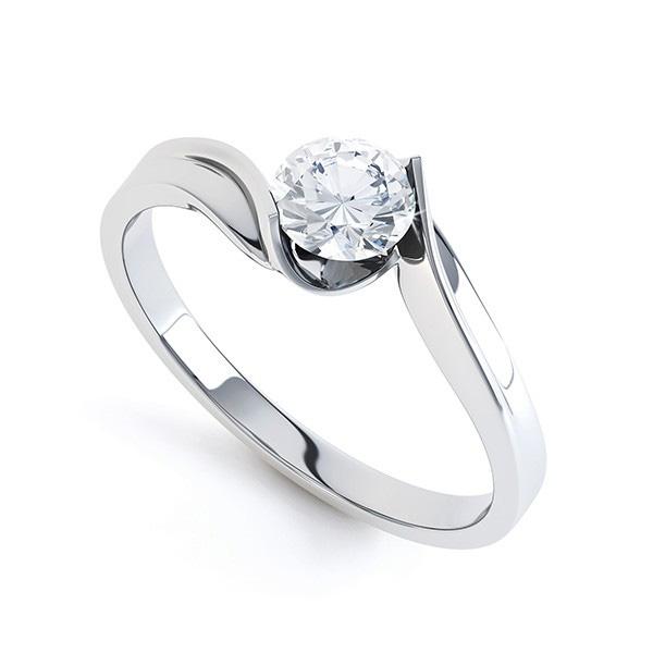 unity twist diamond engagement ring