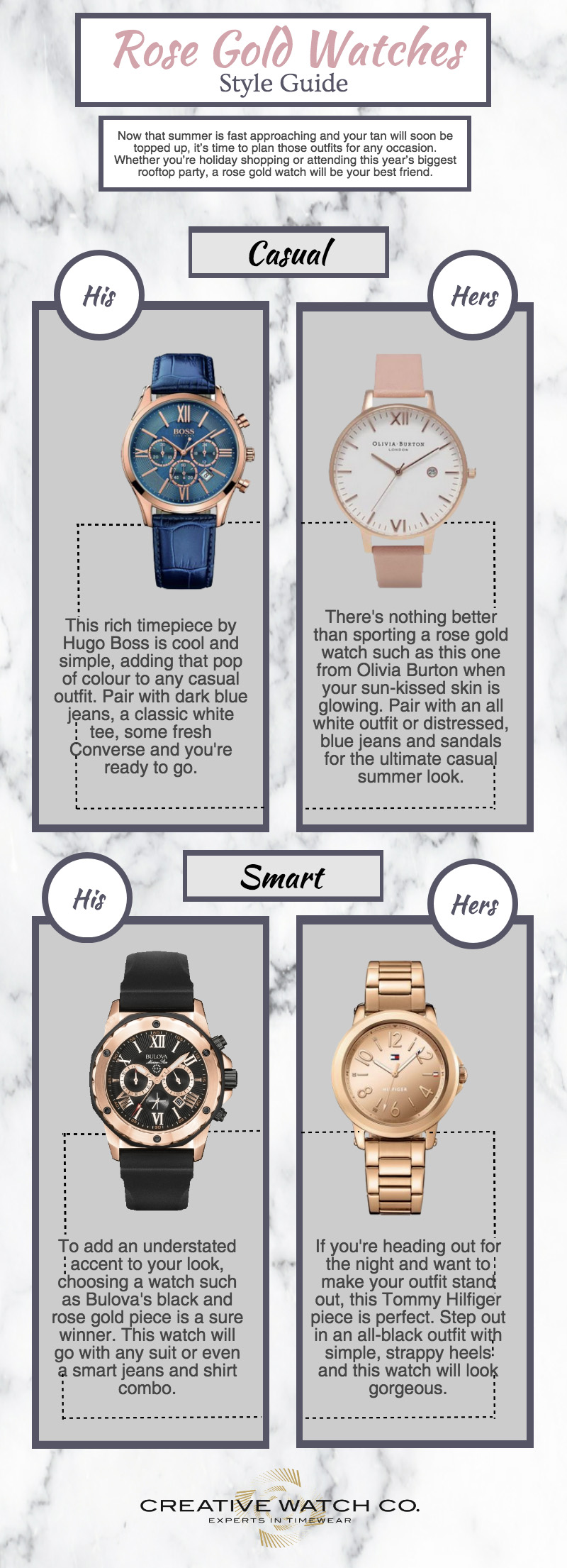 Rose gold watchces summer style guide