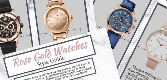2017 rose gold watches style guide